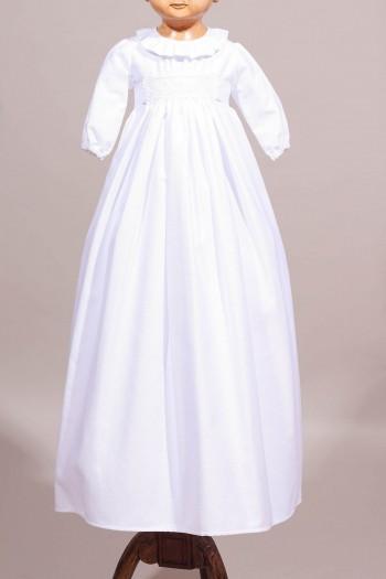 Robe de baptême traditionnelle en coton avec broderie ancienne