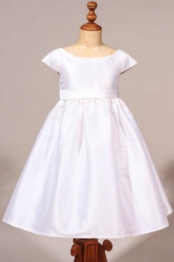 Robe de cérémonie fille chic en soie, robe de cortège