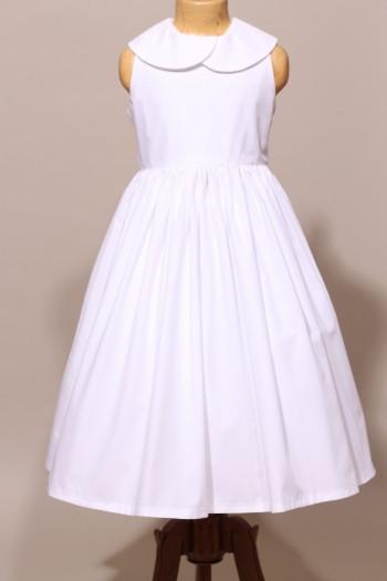 robe blanche de communion fille en popeline. Black Bedroom Furniture Sets. Home Design Ideas