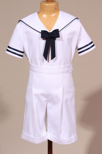 Tenue de marin blanc, costume marin enfant cortège