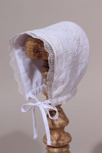 Bonnet de baptême dentelle rétro