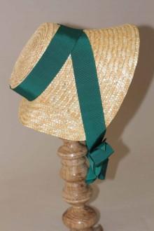 Chapeau en paille style empire forme creusais