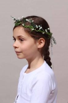 Couronne de fleurs blanche Florence