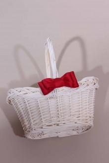 panier blanc avec noeud