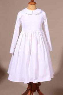 Robe blanche hiver de communion Pascaline