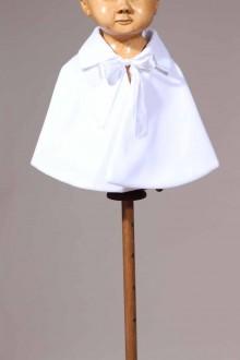 cape courte de bébé blanche Bernardin