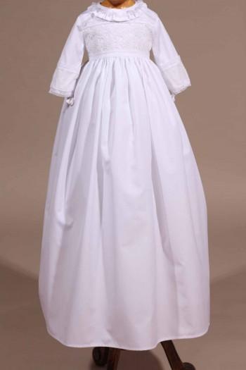 robe traditionnelle dentelle ancienne bapteme