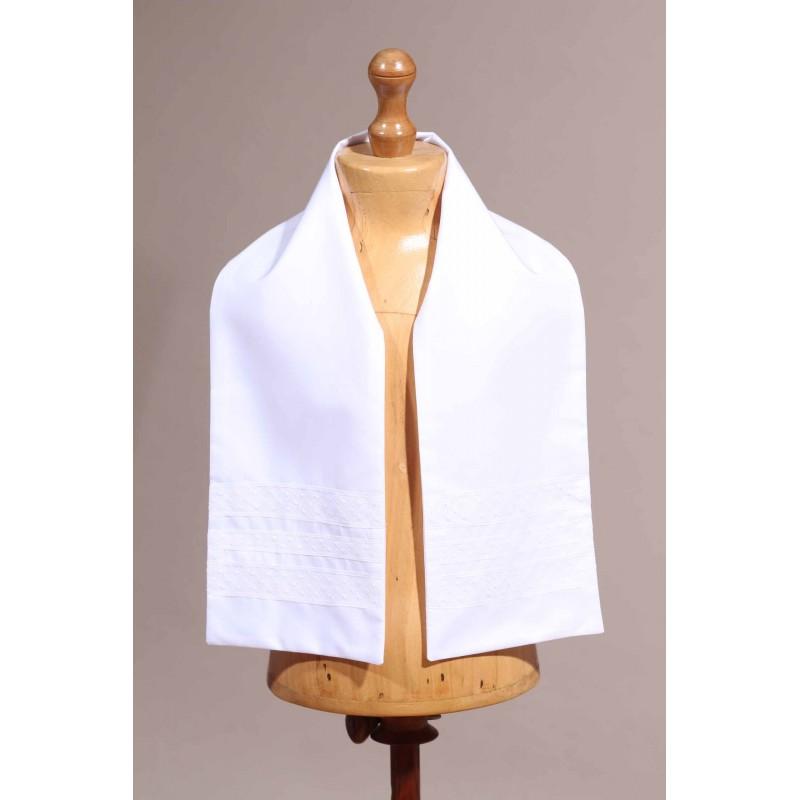 écharpe de baptême blanche bébé Place Dauphine 22606263dd5