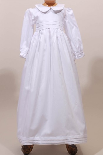 902ca07d2cd35 Robe longue de baptême traditionnelle classique pour bébé