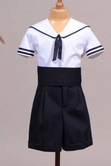 marinière enfant blanche