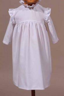 Robe de cérémonie blanche hiver Madeleine