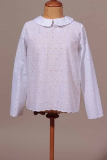 Chemisier broderie anglaise fille