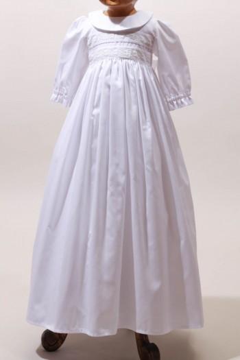 Robe longue de baptême traditionnelle classique