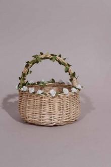 Panier pour cérémonie en osier naturel à fleurs