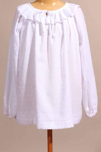 Chemise en plumetis blanc Margot