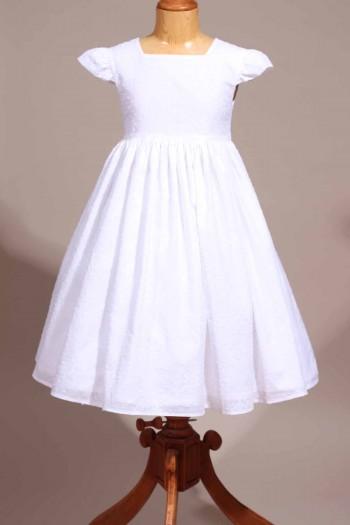 robe de communion plumetis
