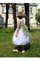 Robe de cortège fille organdi et sisal