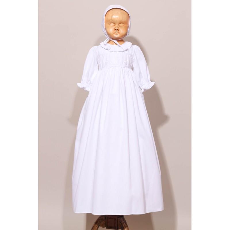 robe traditionnelle de bapt me en dentelle ancienne col. Black Bedroom Furniture Sets. Home Design Ideas