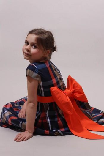 Robe écossaise fille, robe de cérémonie