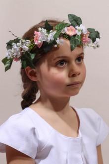 Couronne de fleurs demoiselle d'honneur cortège