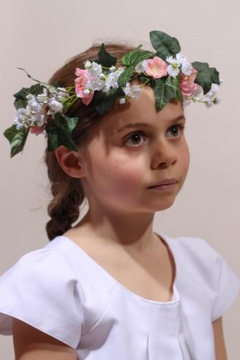 Couronne de fleurs communion couronne de fleur fille - Fleuriste couronne de fleurs ...
