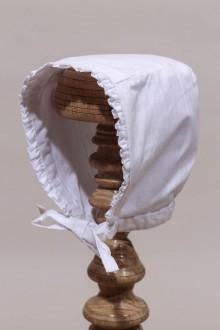 Bonnet blanc baptême bébé