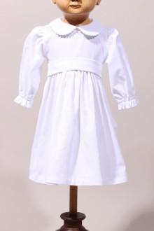 Robe de baptême hiver, robe fille manches longues