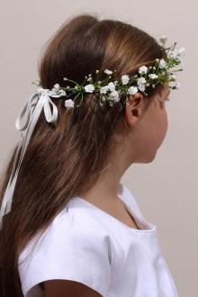Couronne de fleur communion, couronne gypsophiles