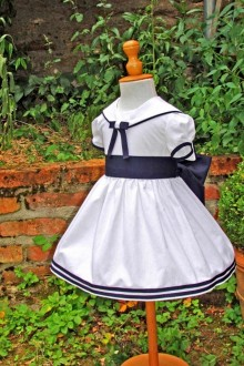 Robe de cérémonie style marin Gwen
