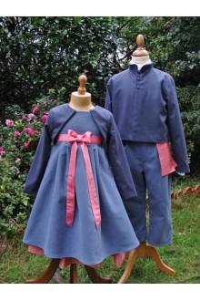 Tenue de cortège mariage hiver, boléro laine cortège