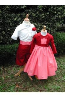 Cortège enfant d'honneur chic mariage hiver