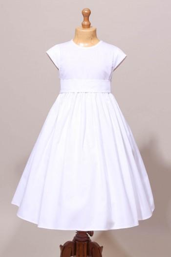Robe de communion fille classique avec ceinture