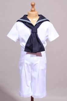 Tenue de petit marin blanc Brieuc
