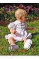 Barboteuse de bébé baptême chic