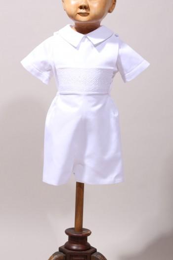 Ensemble de baptême bébé garçon, vêtements blancs bébé