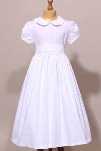 Robe de communion blanche classique