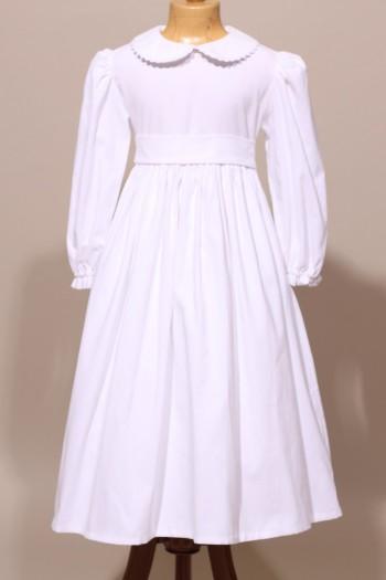 Robe de communion classique en velours, cérémonie d'hiver