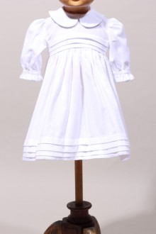 Robe de baptême en velours pour fille made in France