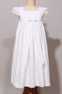 Robe de cérémonie fille blanc cassé