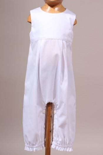 Vêtement de baptême mi-saison en coton Octave