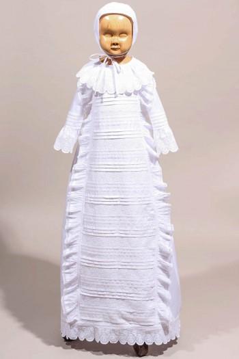 Robe de baptême dentelle ancienne, robe de baptême longue chic
