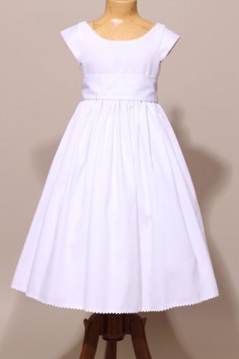 robe blanche cort ge mariage robe de c r monie fille communion. Black Bedroom Furniture Sets. Home Design Ideas