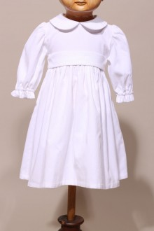 Robe de baptême blanche hiver Astrid