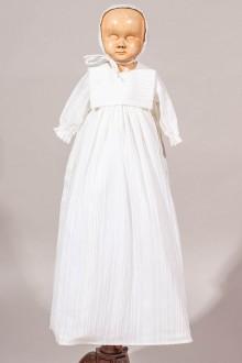Robe longue de baptême traditionnelle tissu tissé